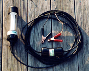 underwater fishing lights - green magnet, Reel Combo